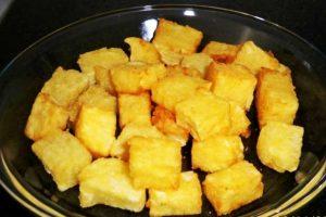 Mandioca Frita Cremosa