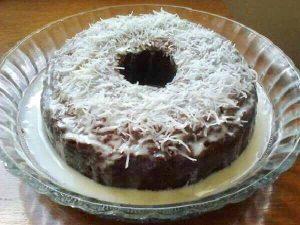 bolo de coco umido