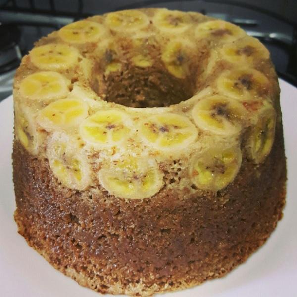 Bolo De Banana Integral Pronto Para Servir