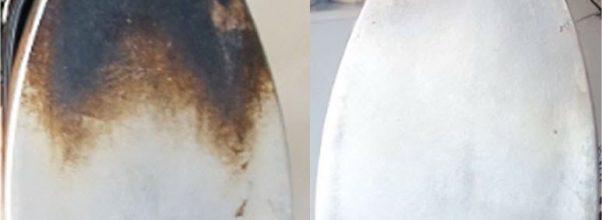 Como limpar ferro de passar roupas utilizando um única produto