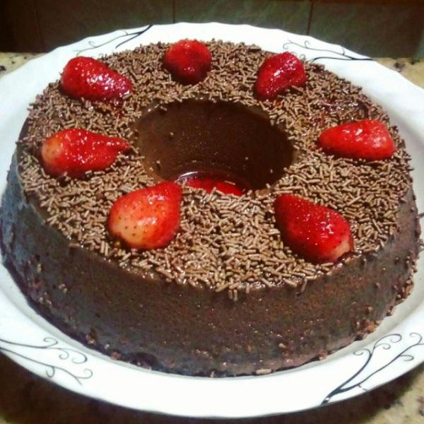 Pudim de Geladeira Sabor Chocolate