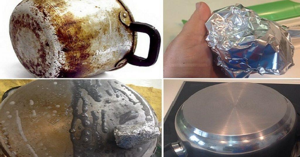 Panela Queimada nunca mais! Use papel alumínio para limpar!