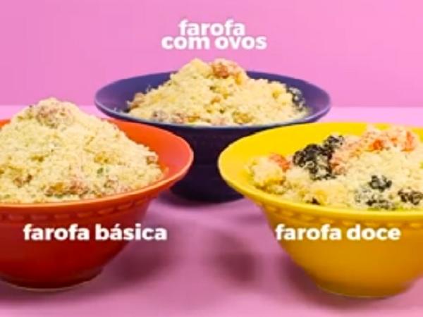 3 Receitas Rápidas de Farofa