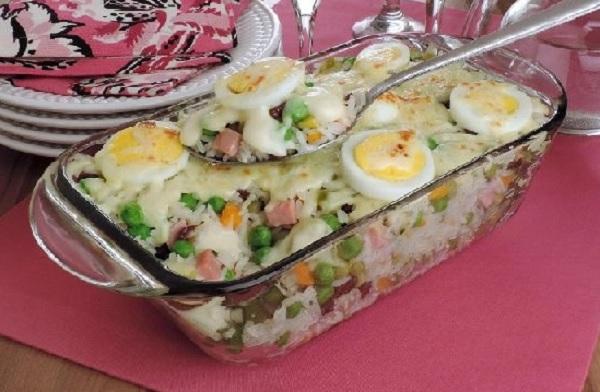 arroz à grega de forno
