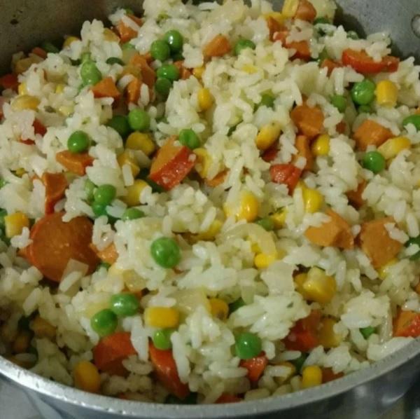 arroz à grega econômico