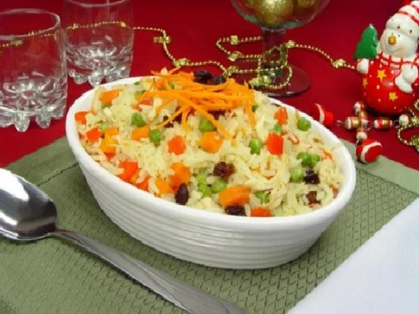 arroz à grega tradicional