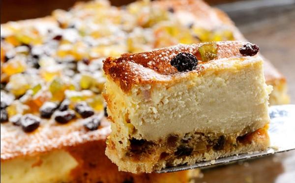 Torta de Ricota com Frutas Cristalizadas