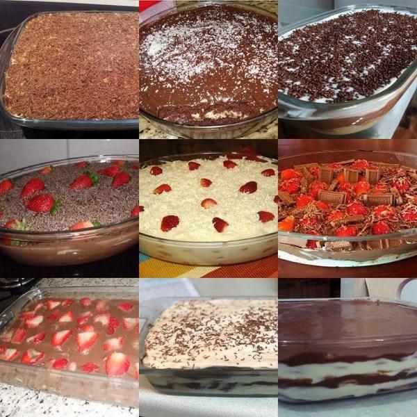 11+ Receitas de Pavê de Chocolate