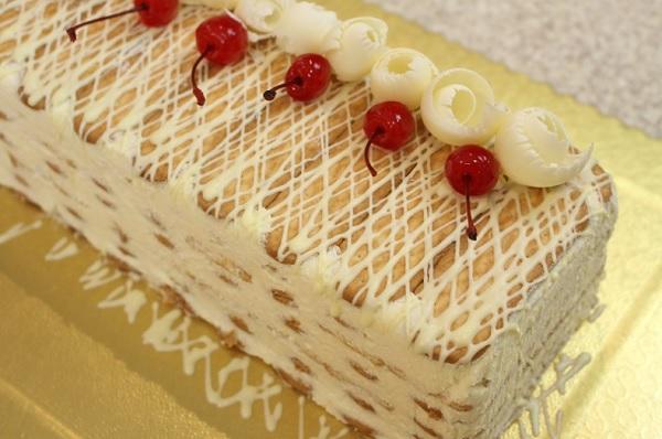 pavê de chocolate branco - perfeito para o natal!