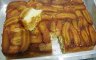 Bolo de Banana Caramelizada com Canela