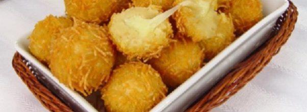 bolinho de queijo crocante