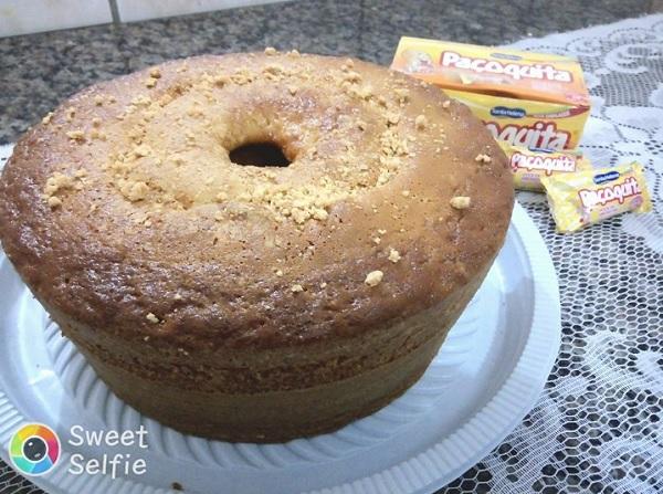 bolo de paçoca de amendoim
