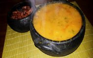 caldo de abóbora com carne seca