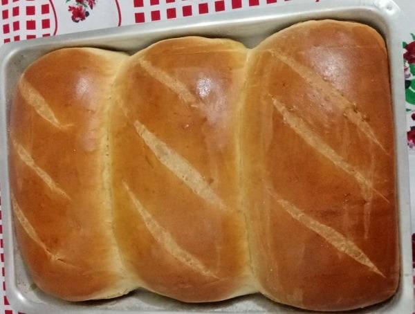 pão caseiro simples e rápido