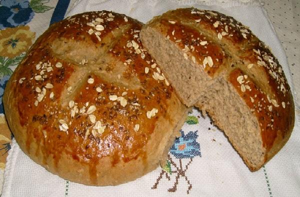 receita de pão integral com grãos