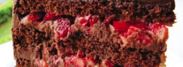 recheio de chocolate alpino com morangos