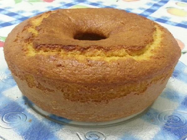 bolo de milho de liquidificador fofinho, depois de pronto