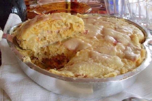 arroz de forno com frango e mussarela