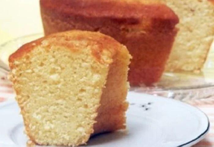 Uma deliciosa fatia de bolo de pão