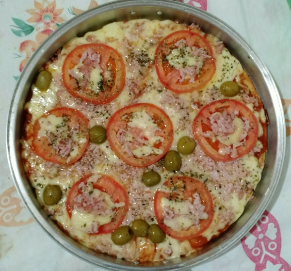 pizza de liquidificador integral