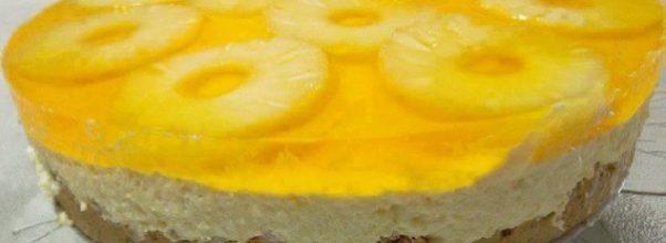 torta de abacaxi com gelatina