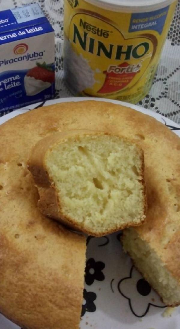 bolo de leite ninho simples