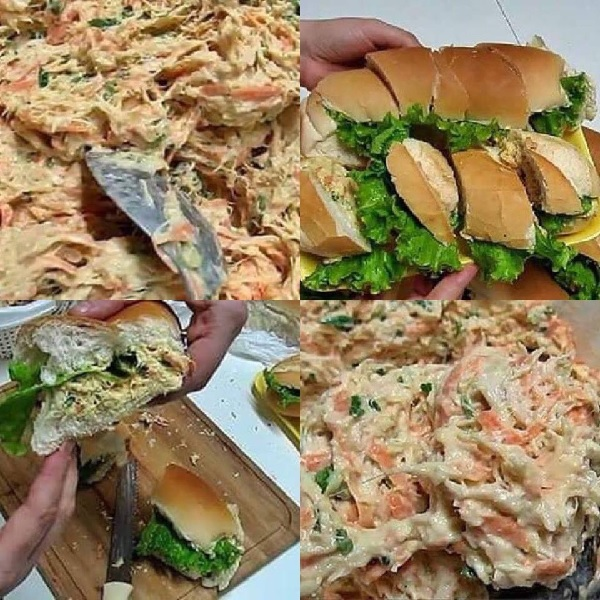 patê de frango para sanduíche natural