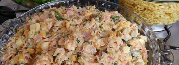 salpicão de frango com maionese