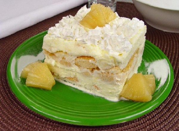 sobremesa de ano novo: pavê de abacaxi com sorvete