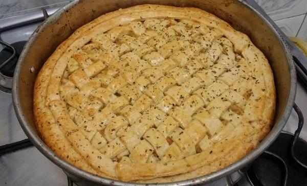 torta de palmito cremosa