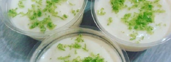 mousse de limão com leite em pó