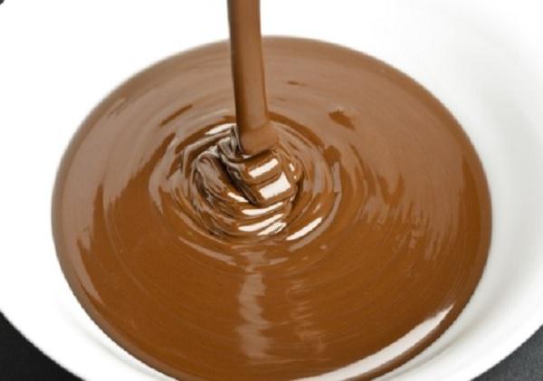 recheio de chocolate em barra