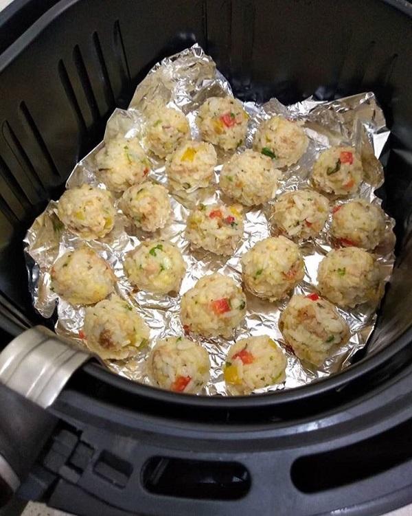 bolinho de arroz na airfryer