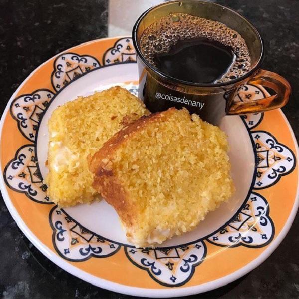bolo de milho com requeijão cremoso