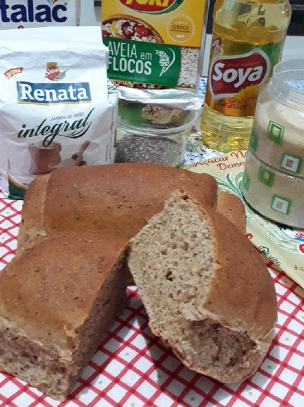 receita de pão integral macio