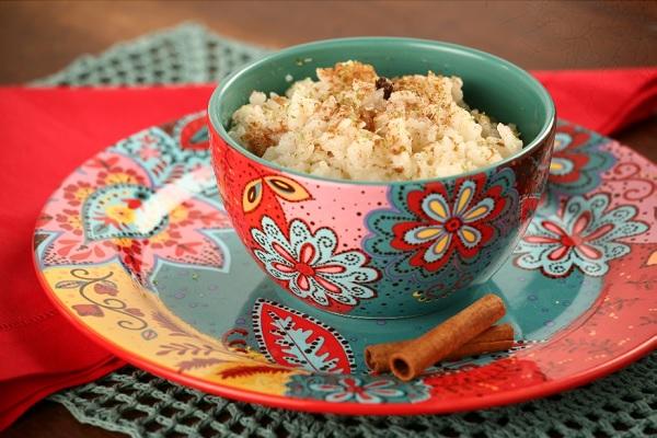 arroz doce sem leite condensado, servido na xicara