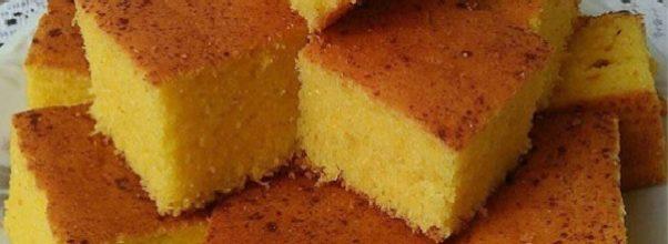 bolo de milho simples